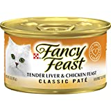 Purina Fancy Feast Wet Cat Food, Classic, tender Liver & Chicken Feast, 3-Ounce Can by Purina Fancy Feast