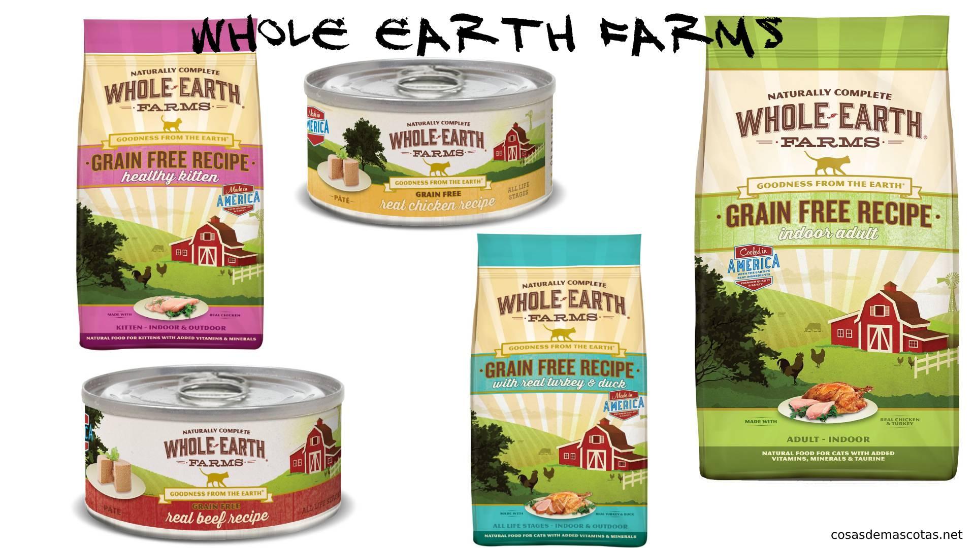 Reseña de la comida para gatos de Whole Earth Farms